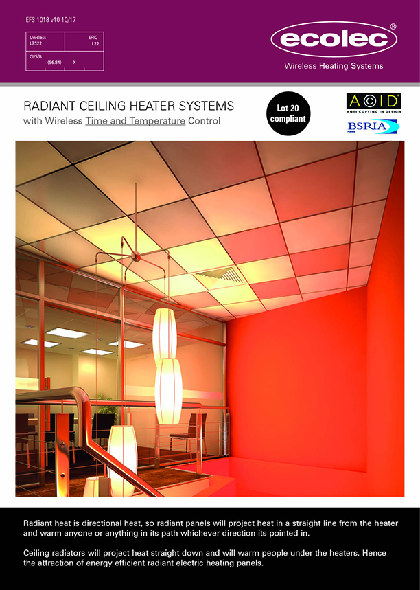 Radiant Ceiling Heater Systems Electric Heat Wire Diagram